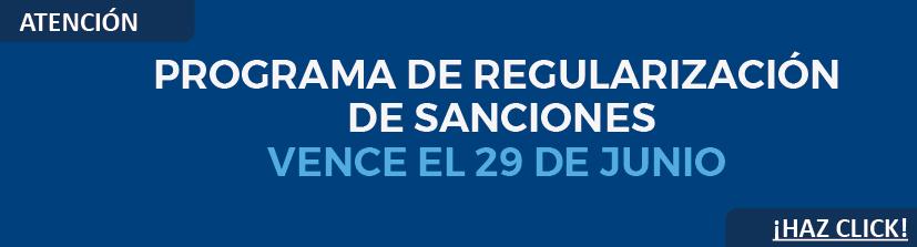 Programa de regularización de sanciones impuestas