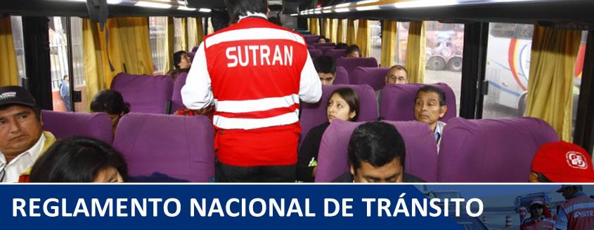 reglamento nacional de transporte