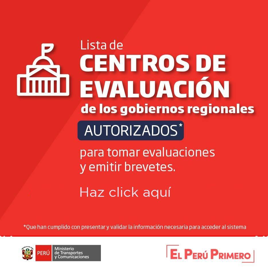 Centros de Evaluación