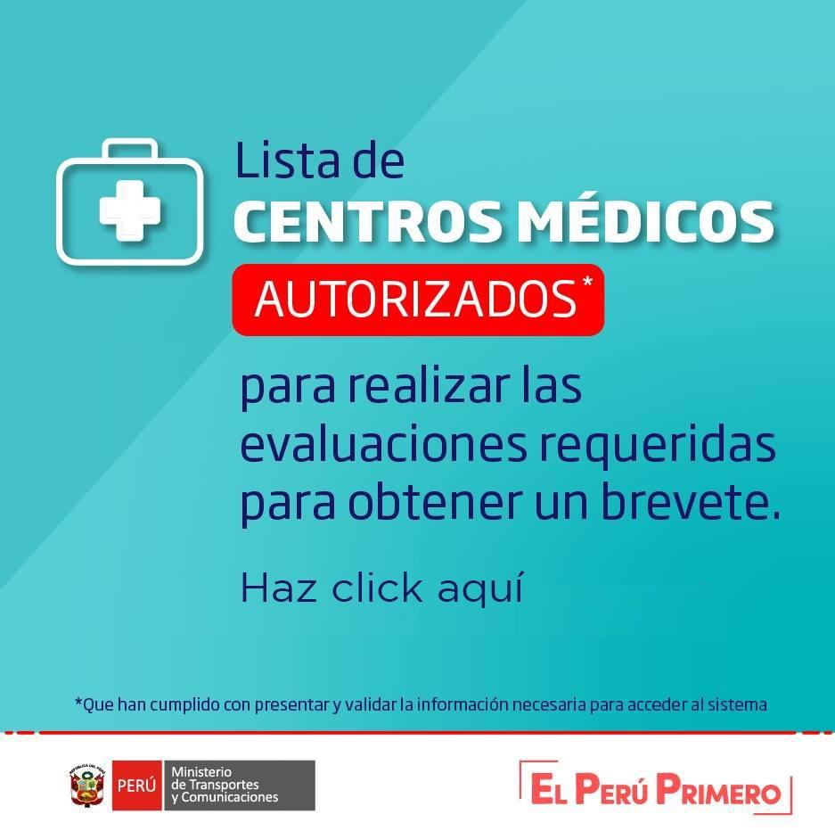 Centros de medicos autorizados
