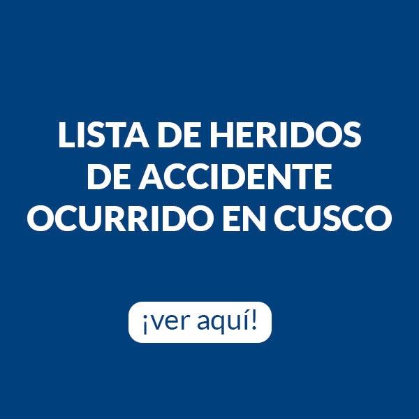 Lista de Heridos Cusco